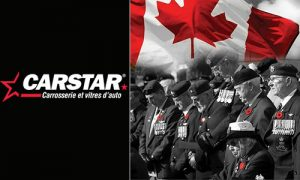 CARSTAR Canada offre aux vétérans et aux membres actifs des Forces armées canadiennes un traitement de pare-brise gratuit.